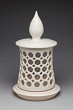 Three Piece Minaret Lantern by Lynne Meade (Ceramic Candleholder)