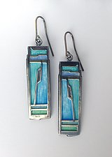 Cliff Earrings by Carly Wright (Enameled Earrings)
