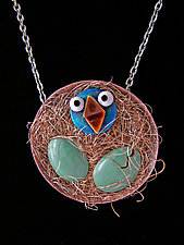 Early Bird Necklace by Lisa and Scott  Cylinder (Metal Necklace)