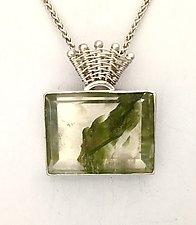Fandango Mineral in Quartz Pendant by Marie Scarpa (Silver & Stone Necklace)