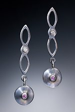 Pendulum Earrings by Robin  Sulkes (Silver & Stone Earrings)