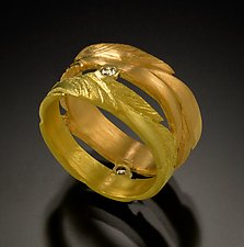 Green & Yellow Band by Rosario Garcia (Gold & Stone Ring)