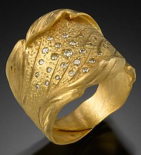 Scattered Diamonds by Rosario Garcia (Gold & Stone Ring)