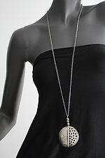 Oxidized Medallion with Beads by John Siever (Silver Necklace)