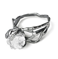Wide Band Herkimer Ring by Aimee Petkus (Silver & Stone Ring)