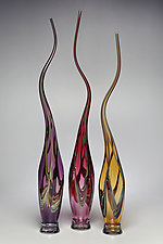 Swans Set II by Victor Chiarizia (Art Glass Sculpture)