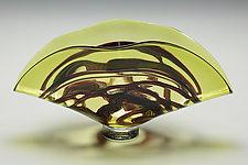 Barchetta in Lime by Victor Chiarizia (Art Glass Sculpture)