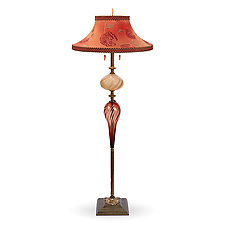 Harry (Bell) Floor Lamp by Susan Kinzig and Caryn Kinzig (Mixed-Media Floor Lamp)