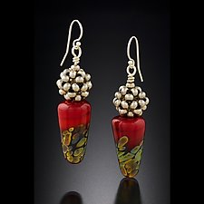 Glass Drop Earrings by Sher Berman (Beaded Earrings)