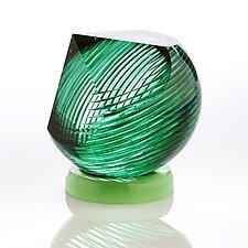 Green Gem by Benjamin Silver (Art Glass Paperweight)