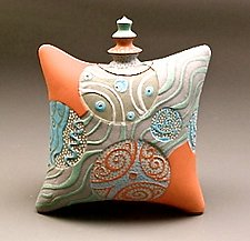 Standing Terra Cotta Pillow by Darlene Davis (Ceramic Box)