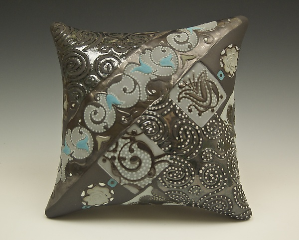 Chocolate Wall Pillow with Swirls and Dots