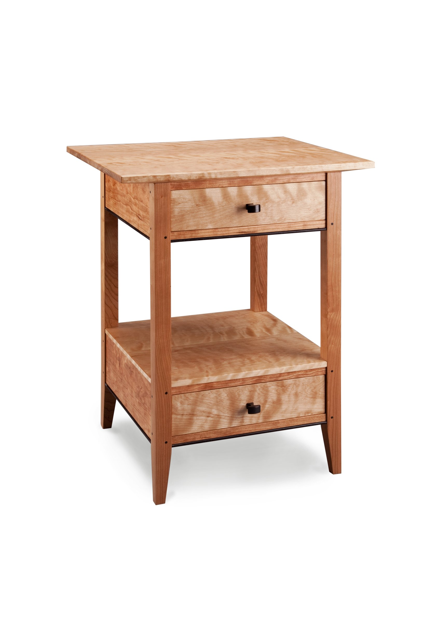 Two drawer end table by tom dumke wood side table for End tables with drawers