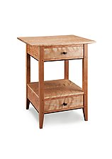 Two Drawer End Table by Tom Dumke (Wood Side Table)