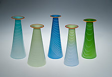 Spring Vase by David J. Benyosef (Art Glass Vase)