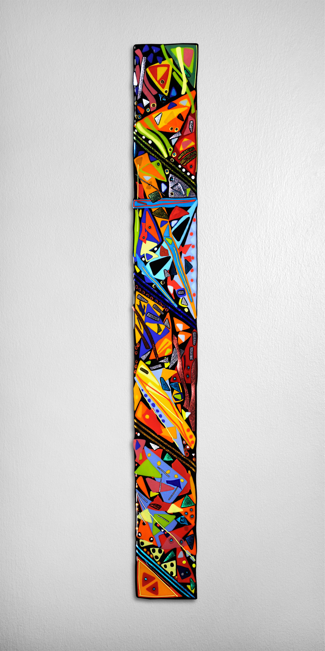 Colored Glass Wall Decor : Mardi gras wall panel by helen rudy art glass