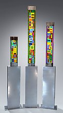 Carnival Trio by Helen  Rudy (Art Glass Sculpture)