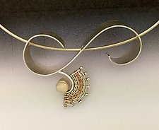 Nine Ladies Dancing Necklace with Opal by Marie Scarpa (Gold, Silver, & Stone Necklace)