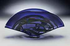 Barchetta in Midnight Blue by Victor Chiarizia (Art Glass Sculpture)