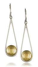 Teardrop Earrings by Idelle Hammond-Sass (Gold & Silver Earrings)