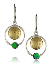 Orbit Earrings by Idelle Hammond-Sass (Gold & Stone Earrings)