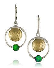 Orbit Earrings by Idelle Hammond-Sass (Gold & Stone Earrings)