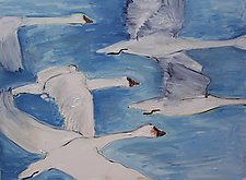 Birds in Flight by Elisa Root (Oil Painting)