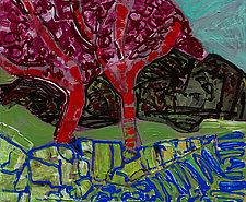 Apple Trees by Leonard Moskowitz (Acrylic Painting)