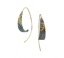 Dahlia Bedrock Hoops by Jenny Reeves (Gold & Silver Earrings)