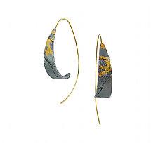 Dahlia Bedrock Hoops by Jenny Reeves (Gold & Silver Earrings)