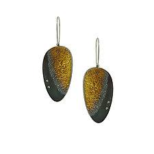 Hollow Nebula Drop Earring by Jenny Reeves (Gold, Silver & Stone Earrings)