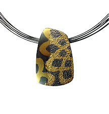 Dahlia Pattern Pendant by Jenny Reeves (Gold & Silver Necklace)