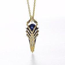 Aziza Pendant by Ellen Himic (Gold & Stone Necklace)