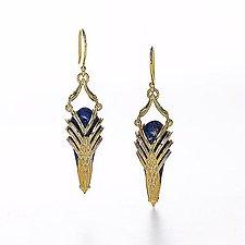 Aziza Earrings by Ellen Himic (Gold & Stone Earrings)