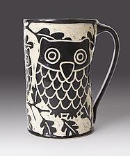 Owl Mug by Jennifer  Falter (Ceramic Mug)