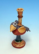 Robin Candlestick by Amy Goldstein-Rice (Ceramic Candleholder)