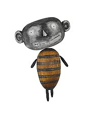 Drone MoonBee by Bruce Chapin (Wood Wall Sculpture)
