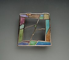 York Brooch No. 245 by Carly Wright (Silver & Enamel Brooch)