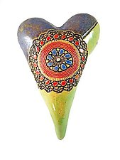 Cirque Medallion by Laurie Pollpeter Eskenazi (Ceramic Wall Sculpture)