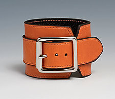 Wide Leather Cuff by Jutta Neumann  (Leather Bracelet)