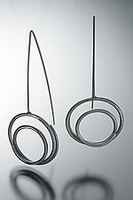 Medium Circle in Circle Earrings by Donna D'Aquino (Silver Earrings)