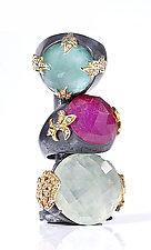 Harem Rings by Mevesh Ozagar (Gold, Silver & Stone Ring)