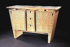 Custom Keystone Sideboard by Gregg Lipton (Wood Cabinet)