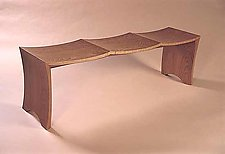 Bench for 3 by Gregg Lipton (Wood Bench)
