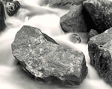 River Rock by Joseph Hyde (Black & White Photograph)