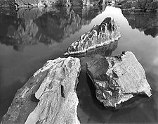 Three Rocks Pool by Joseph Hyde (Black & White Photograph)