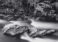 Two Boulders by Joseph Hyde (Black & White Photograph)