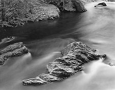 Curved Rock by Joseph Hyde (Black & White Photograph)