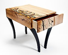 Winds of the Prairie End Table by Kate Swann (Wood Side Table)