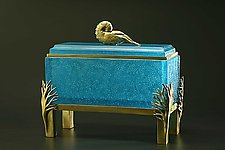 Nautilus Box by Georgia Pozycinski and Joseph Pozycinski (Art Glass & Bronze Sculpture)